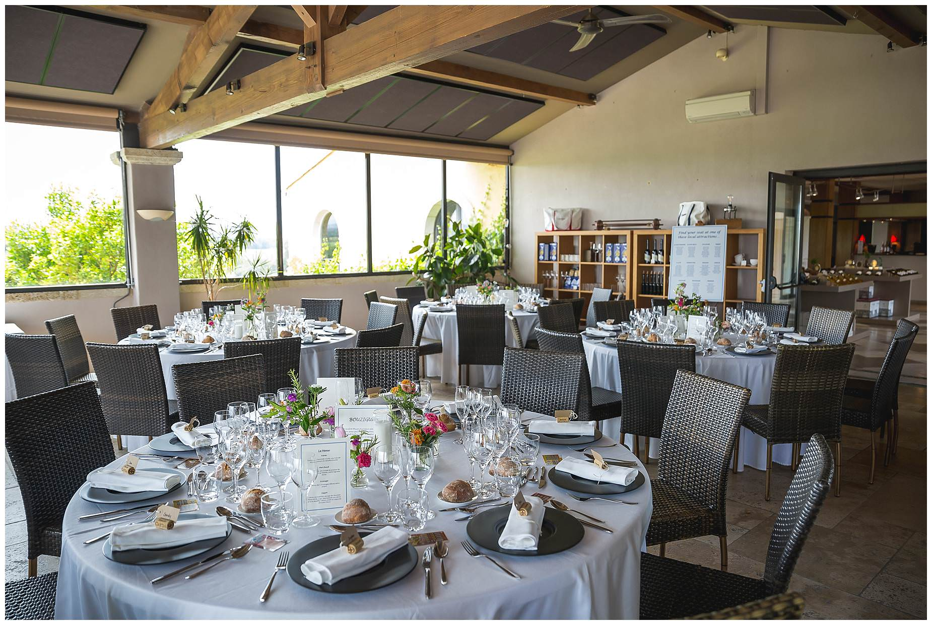 domaine gayda wedding reception