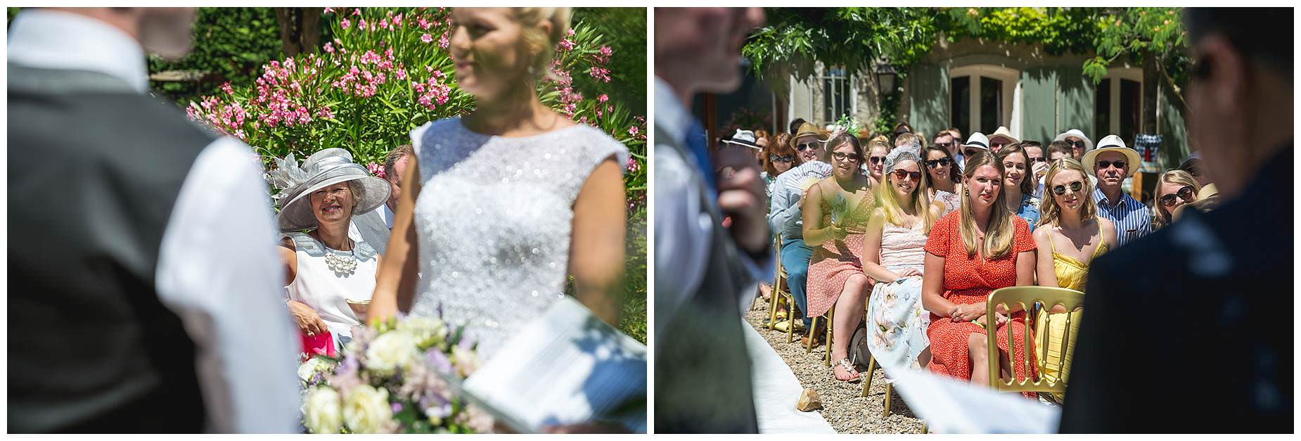 guests watch wedding at Villa Rouge wedding