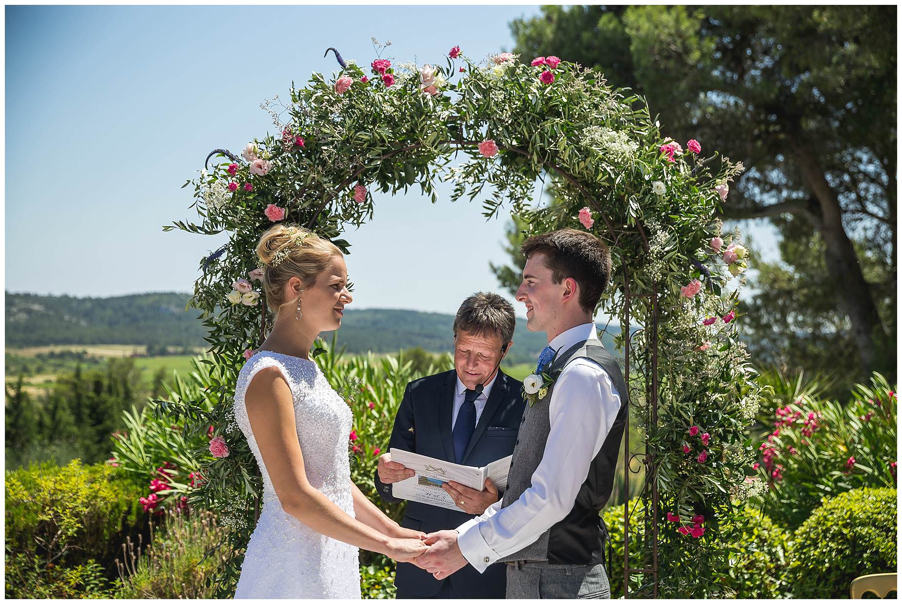outdoor wedding ceremony france