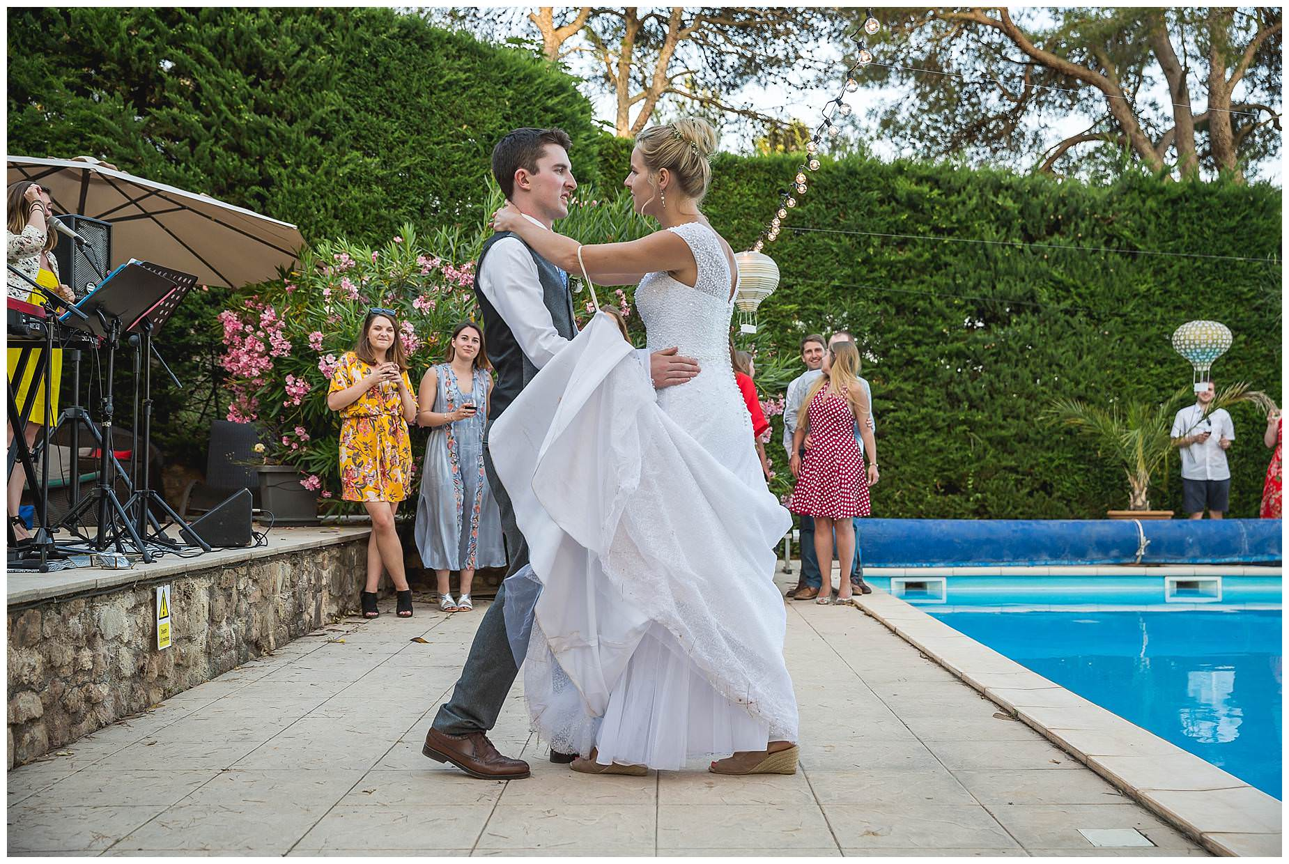 first dance by pool