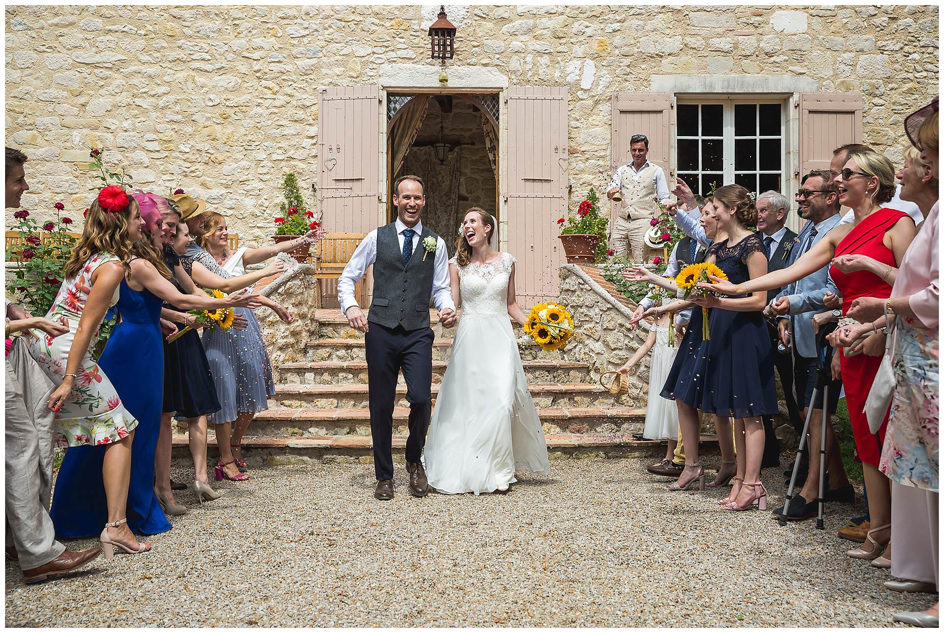 chateau brametourte wedding photos