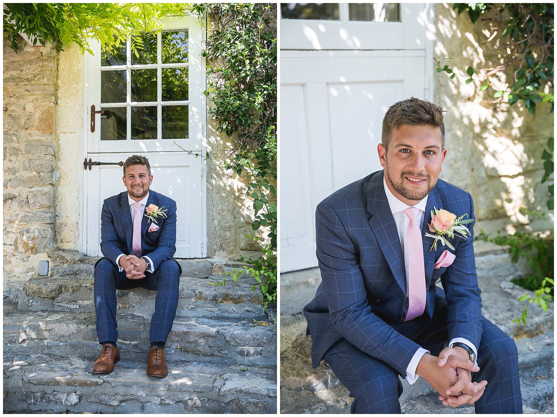 Groom ready for his Domaine Saint Germain Wedding