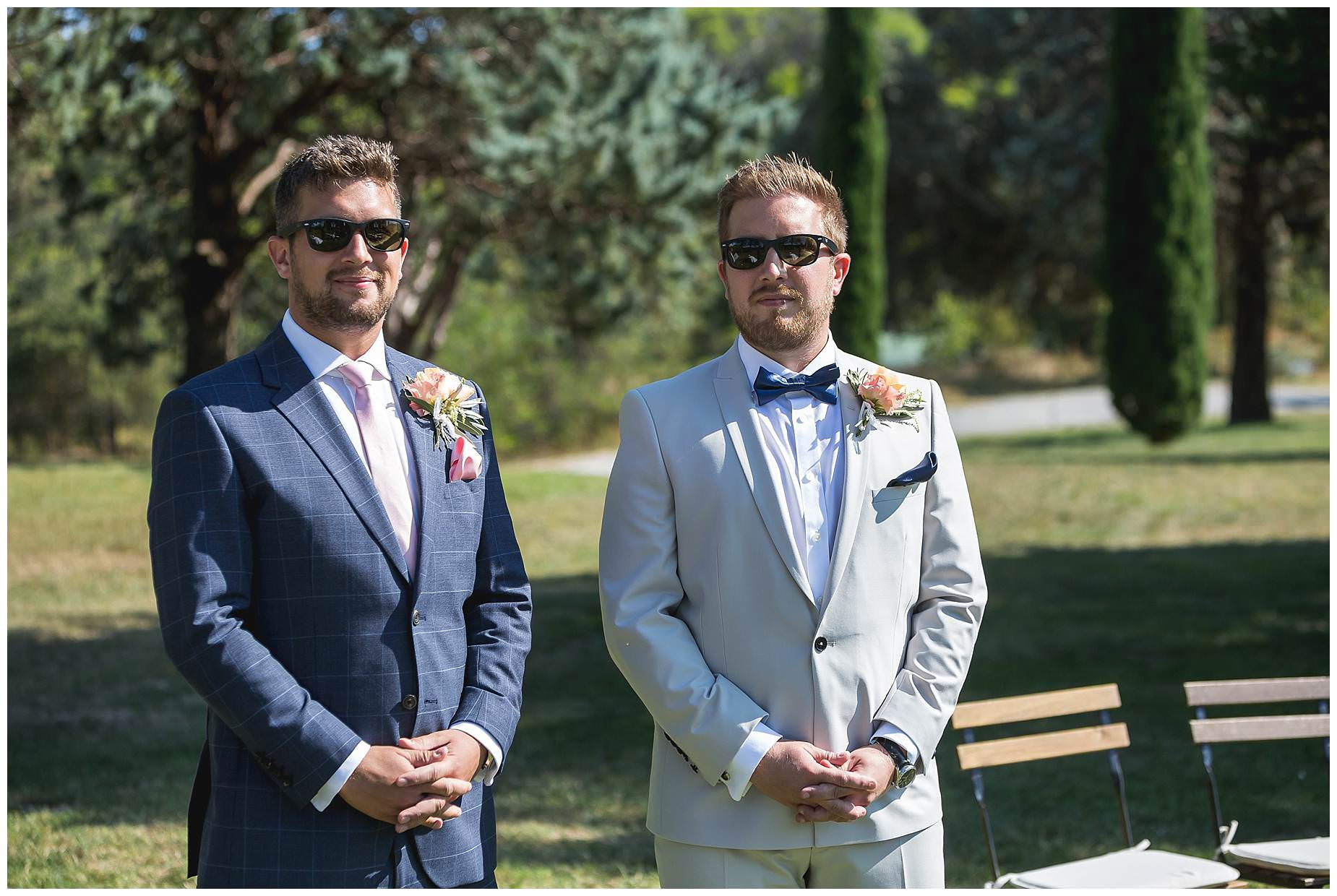 bestman and groom
