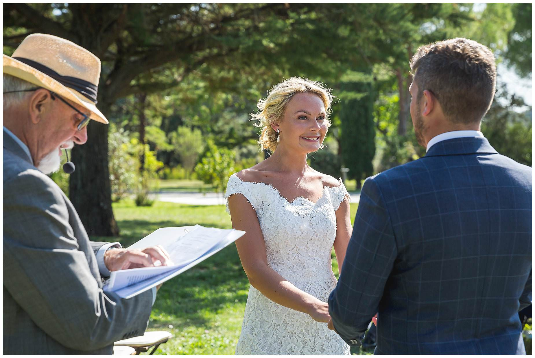 Wedding ceremony at Domaine Saint Germain