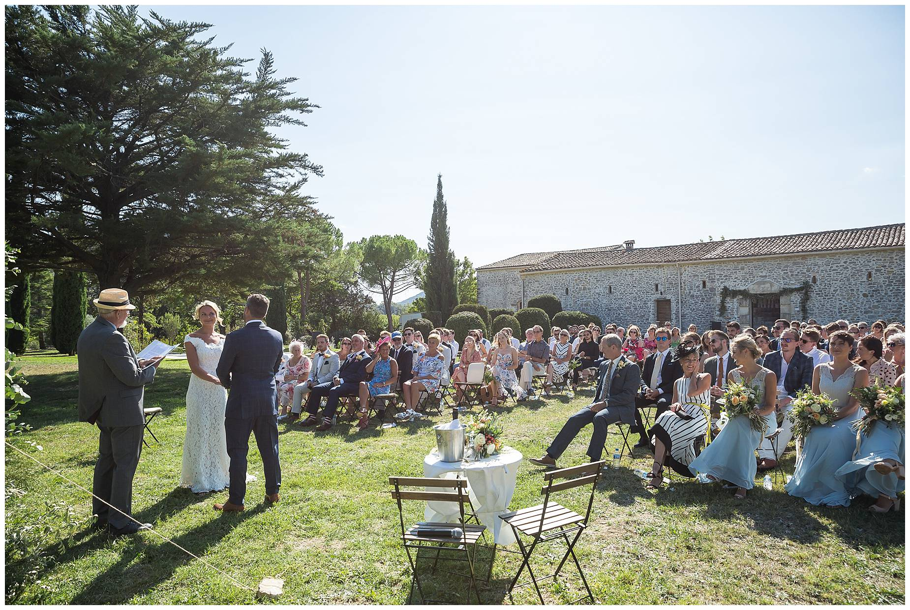 outside ceremony at Domaine Saint Germain Wedding