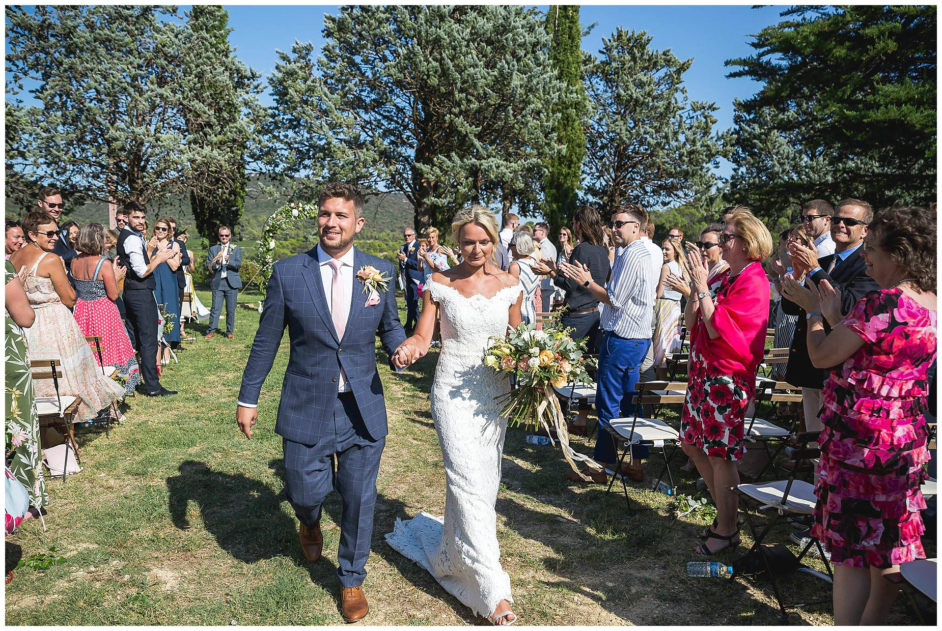 Walking down the aisle at Domaine Saint Germain