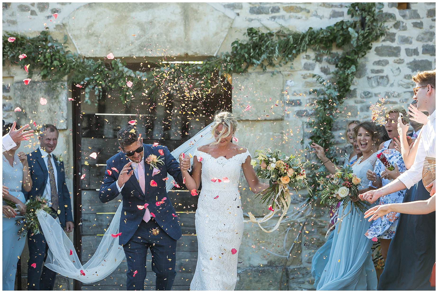 Domaine Saint Germain wedding confetti