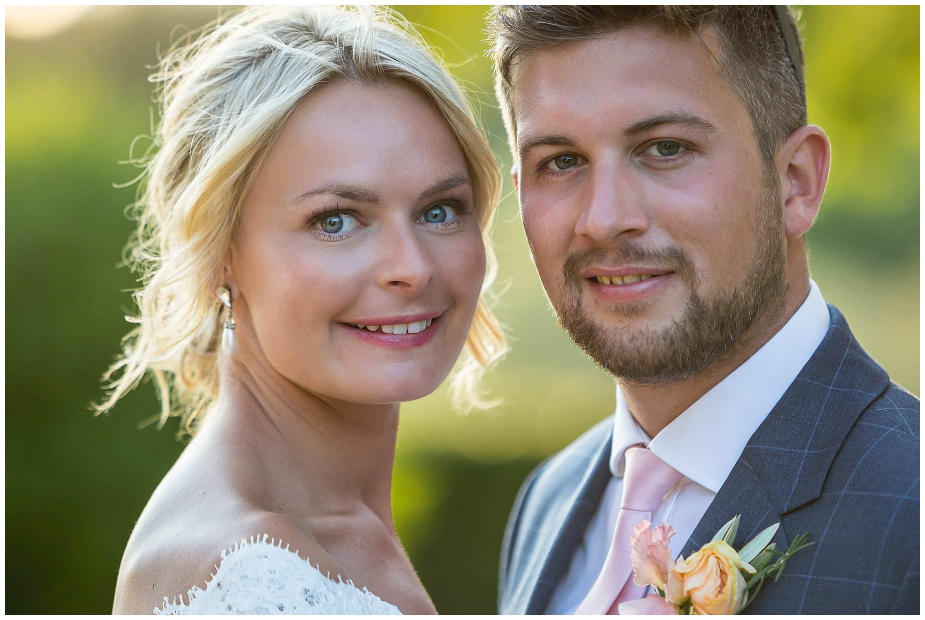 close up pictures of the bride and groom at Domaine Saint Germaine