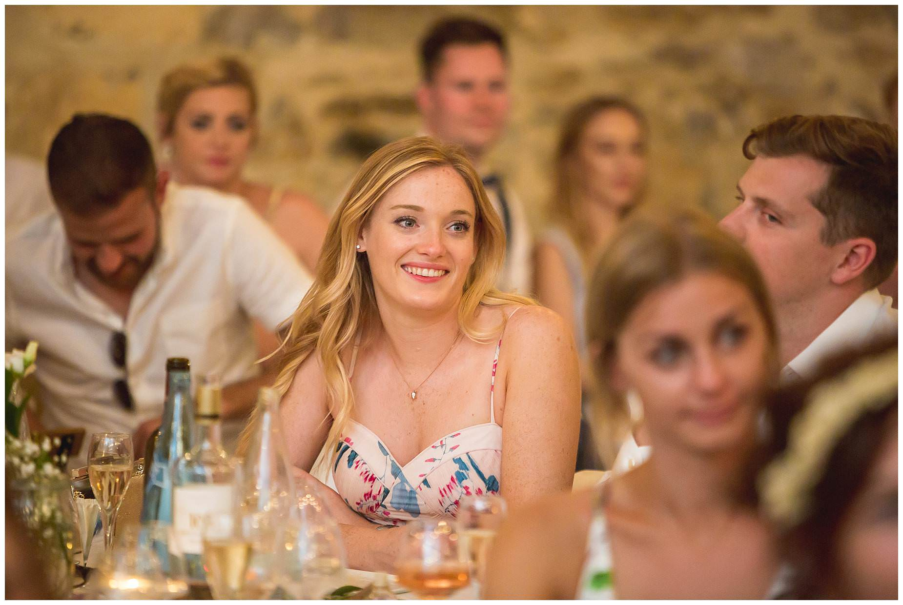guests at domaine saint germaine wedding