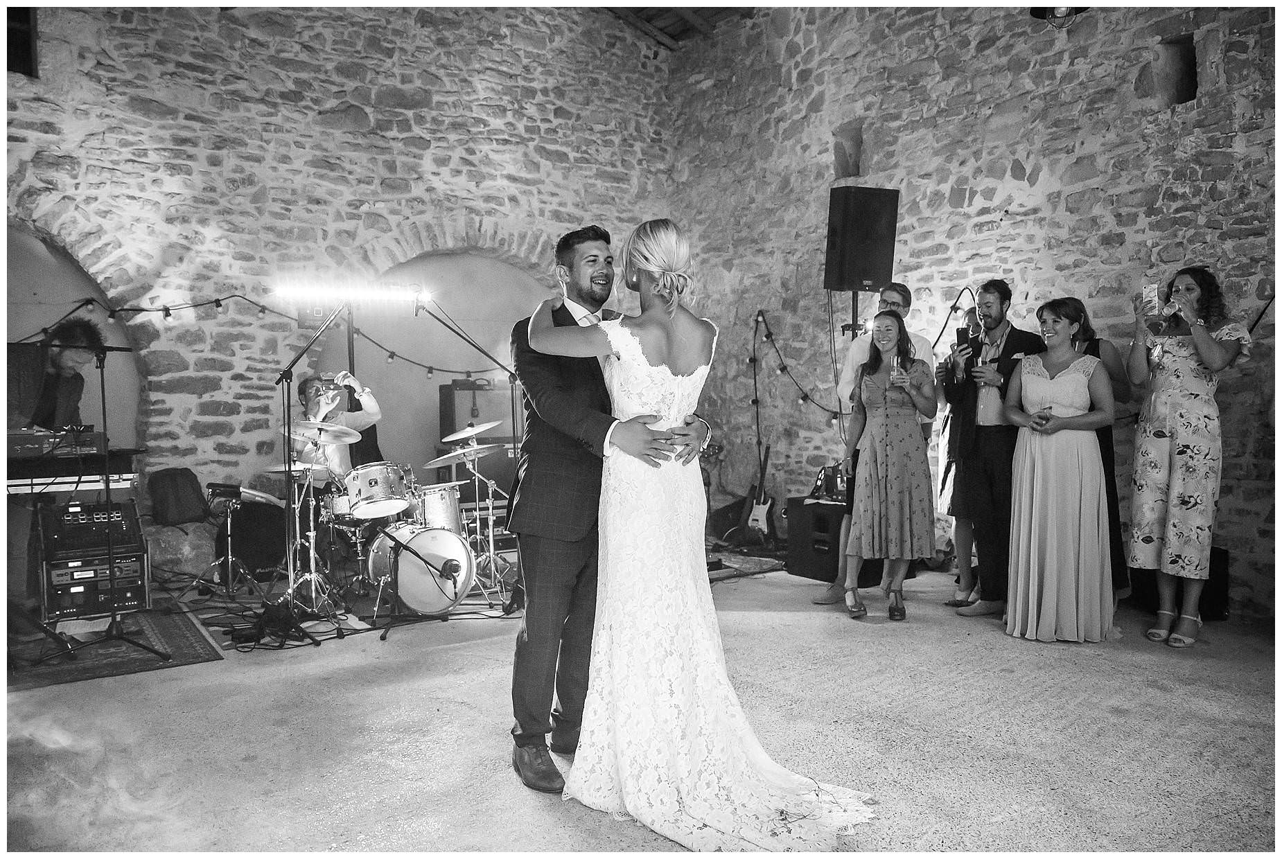 first dance at domaine saint germain wedding