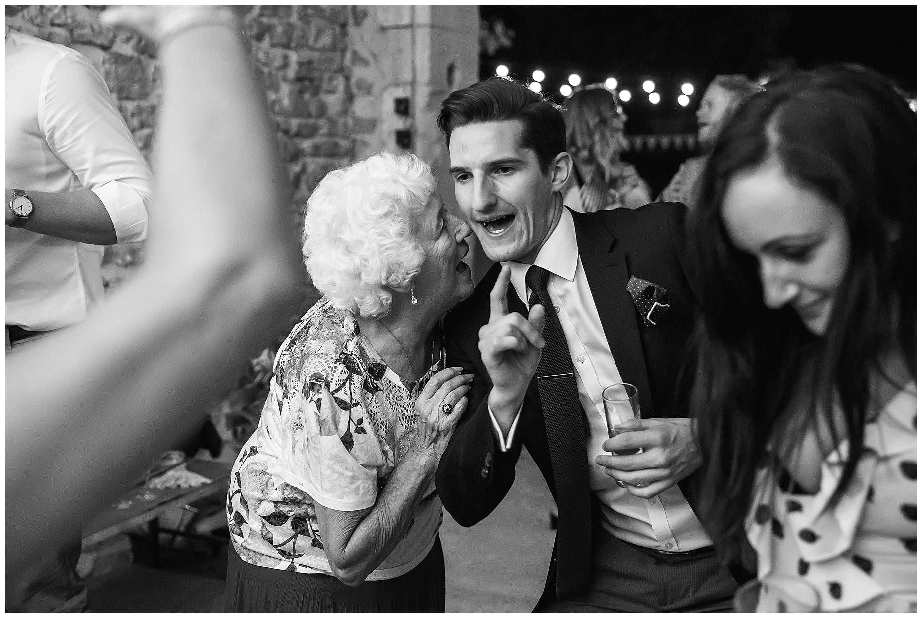 granny dancing at domaine saint germaine wedding
