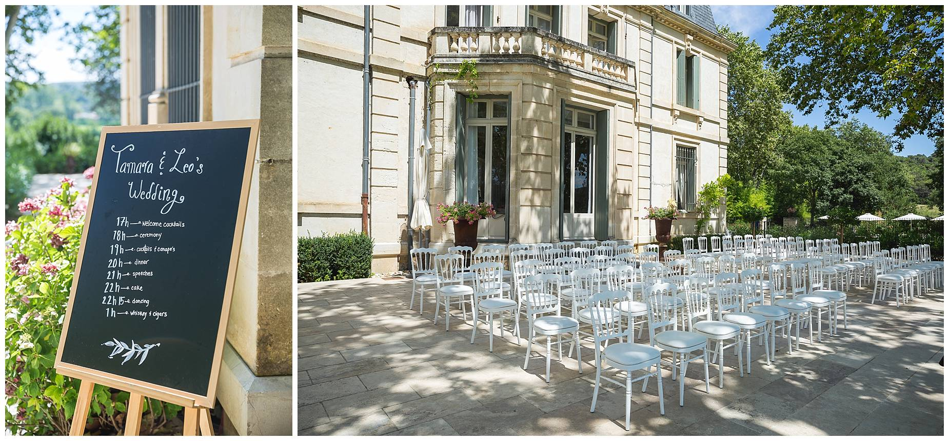 Chateau de Malmont Wedding set up