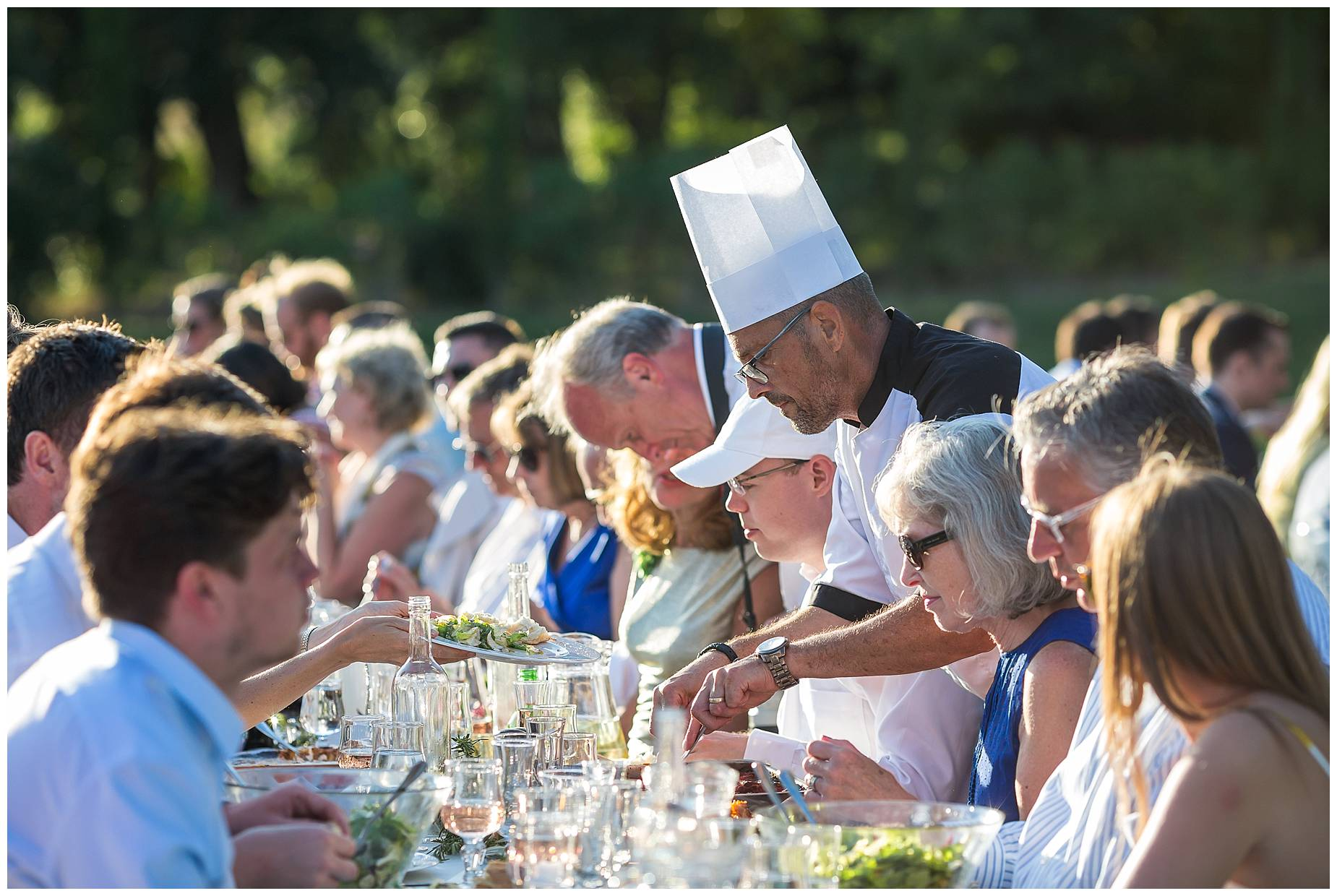 Caterer at Chateau de Malmont Wedding