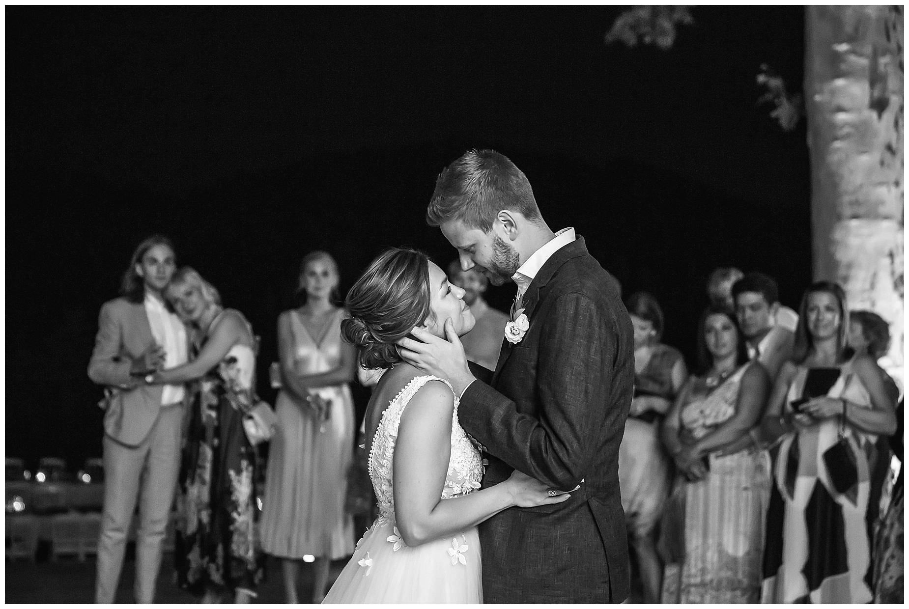 first dance at Chateau de Malmont Wedding