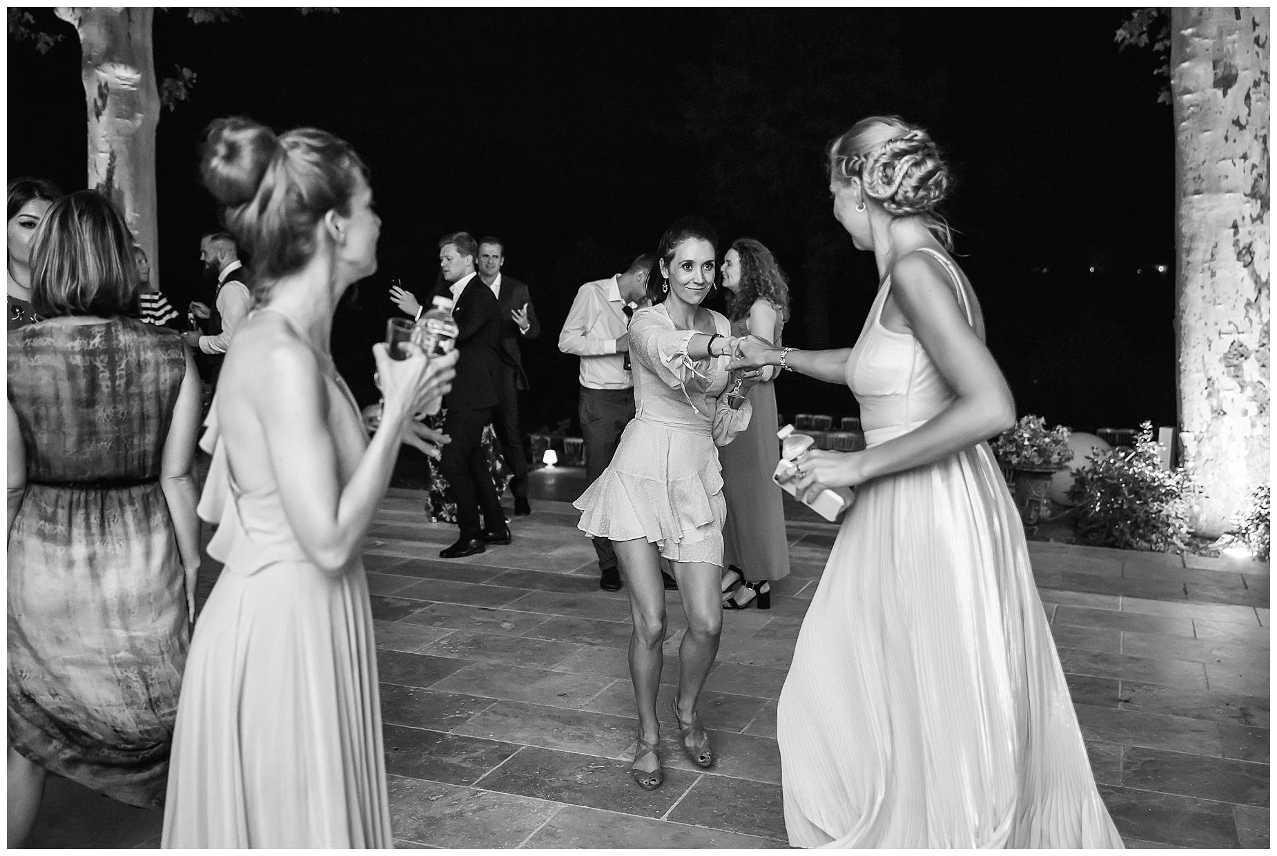 guests dance at Chateau de Malmont Wedding
