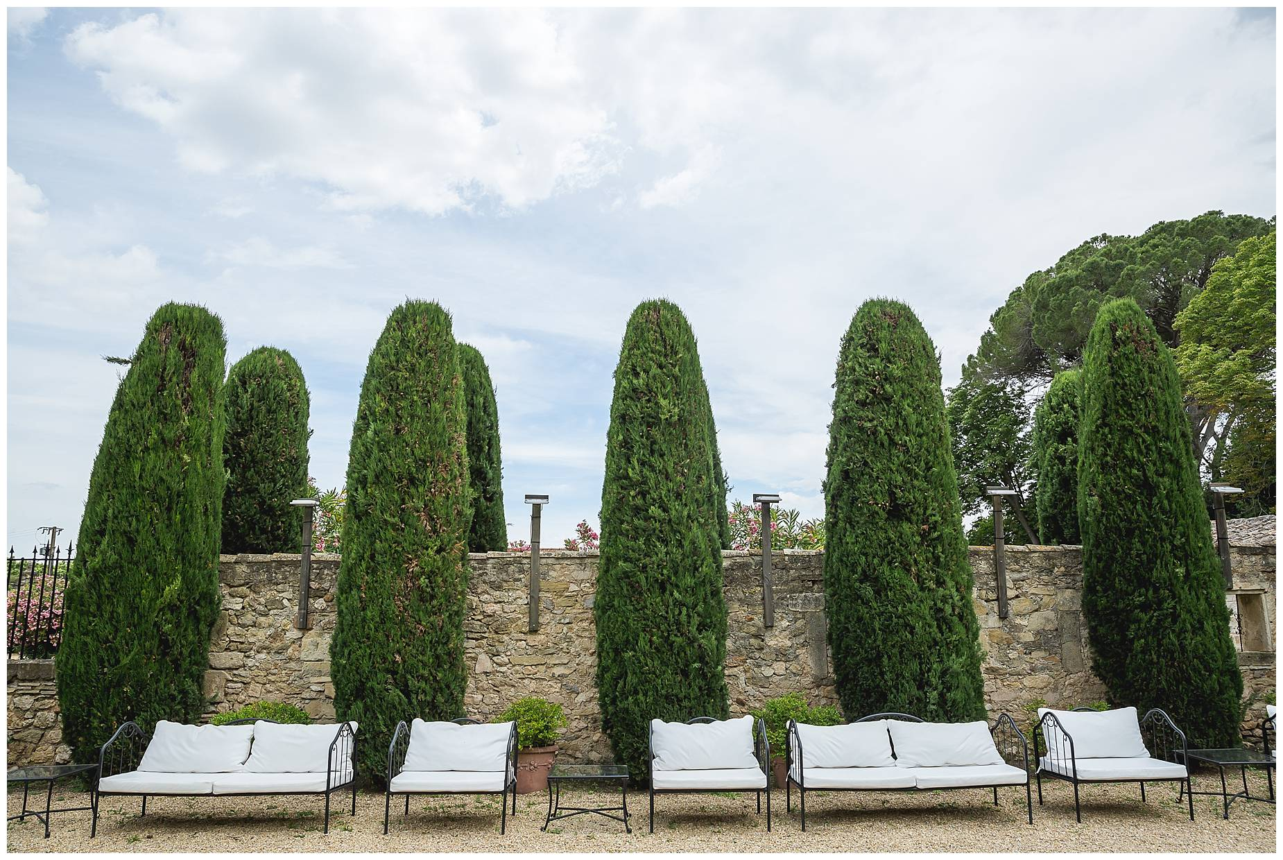 seating at Chateau de Pouget