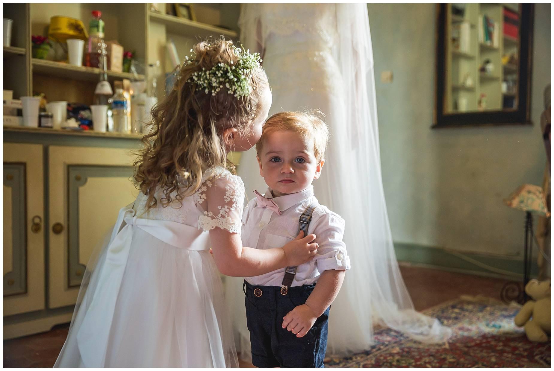 bridesmaid kisses page boy