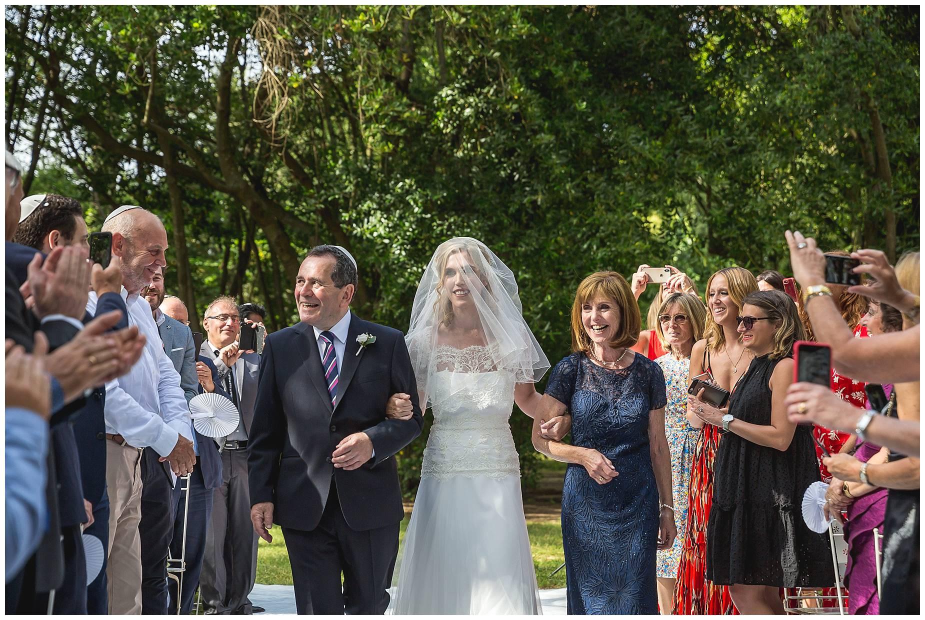 bride walks down the aisle.