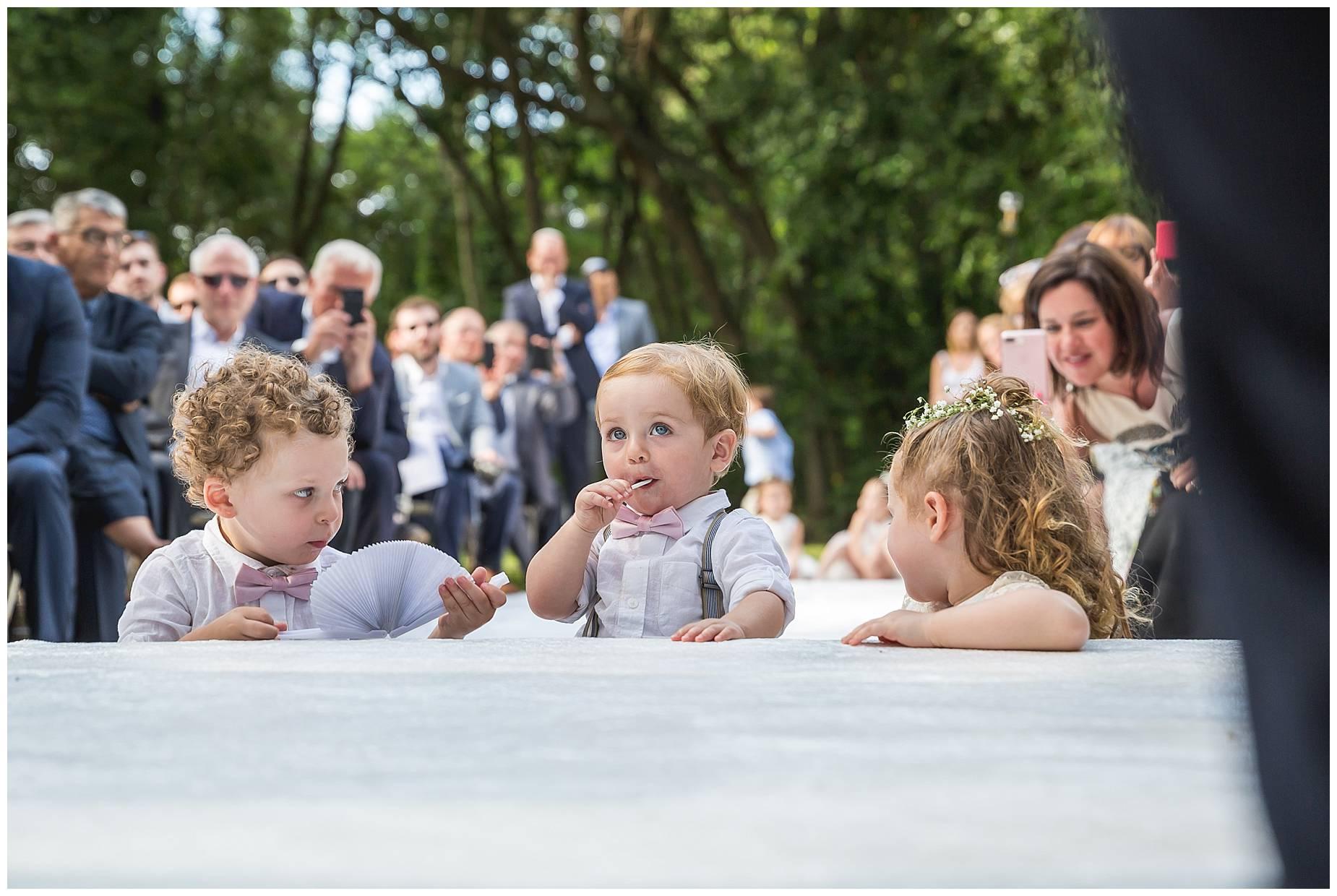 kids at Chateau de Pouget wedding