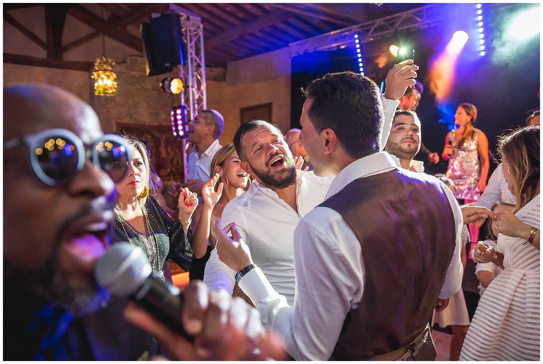 dancing at Chateau de Pouget wedding