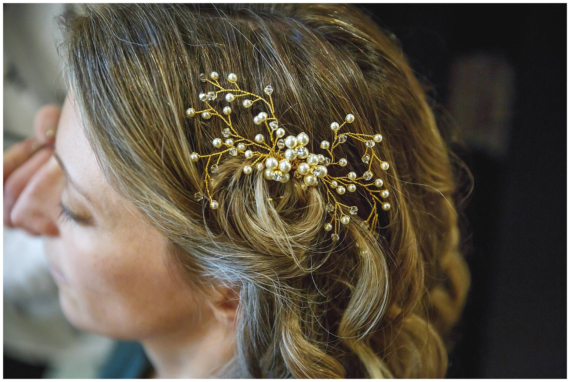 brides hair piece