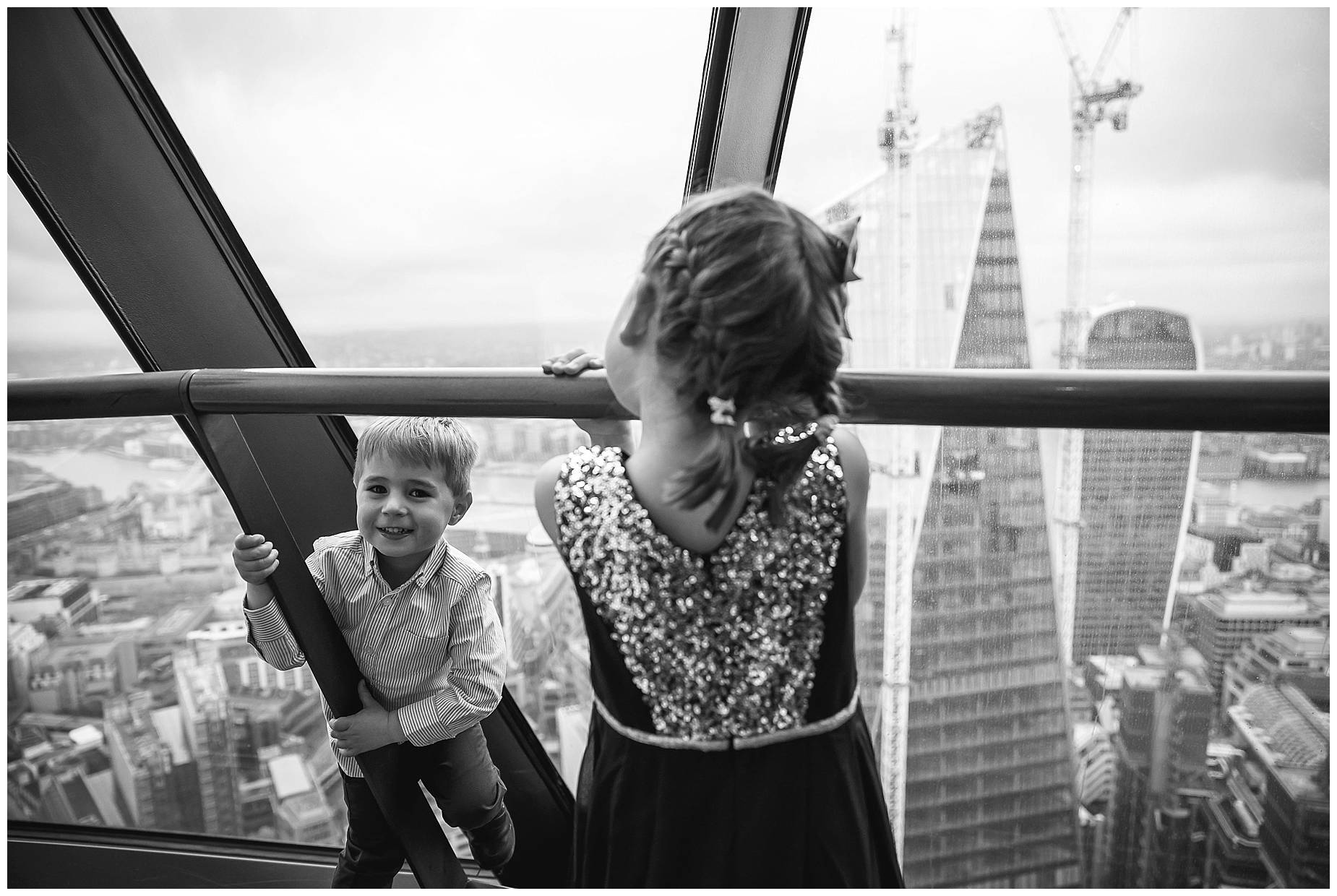 kids play at the Gherkin