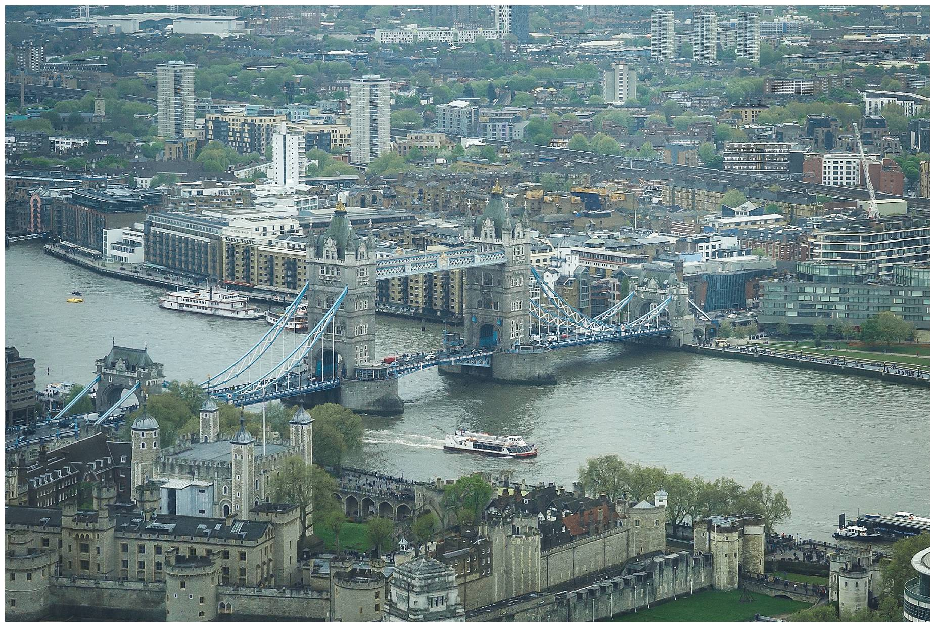 The view of Tower Bridge from the Gherkin
