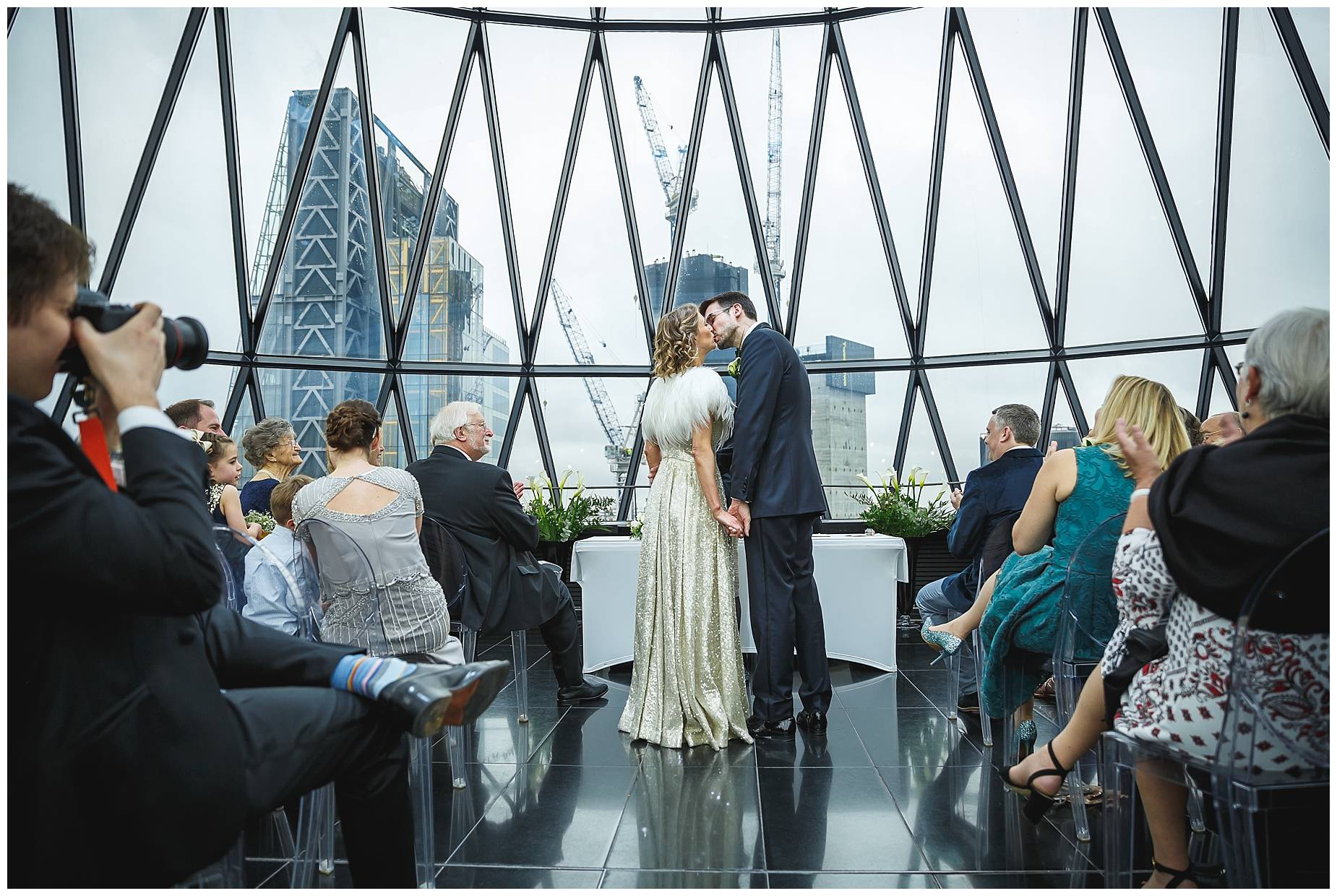 first kiss married at the Gherkin