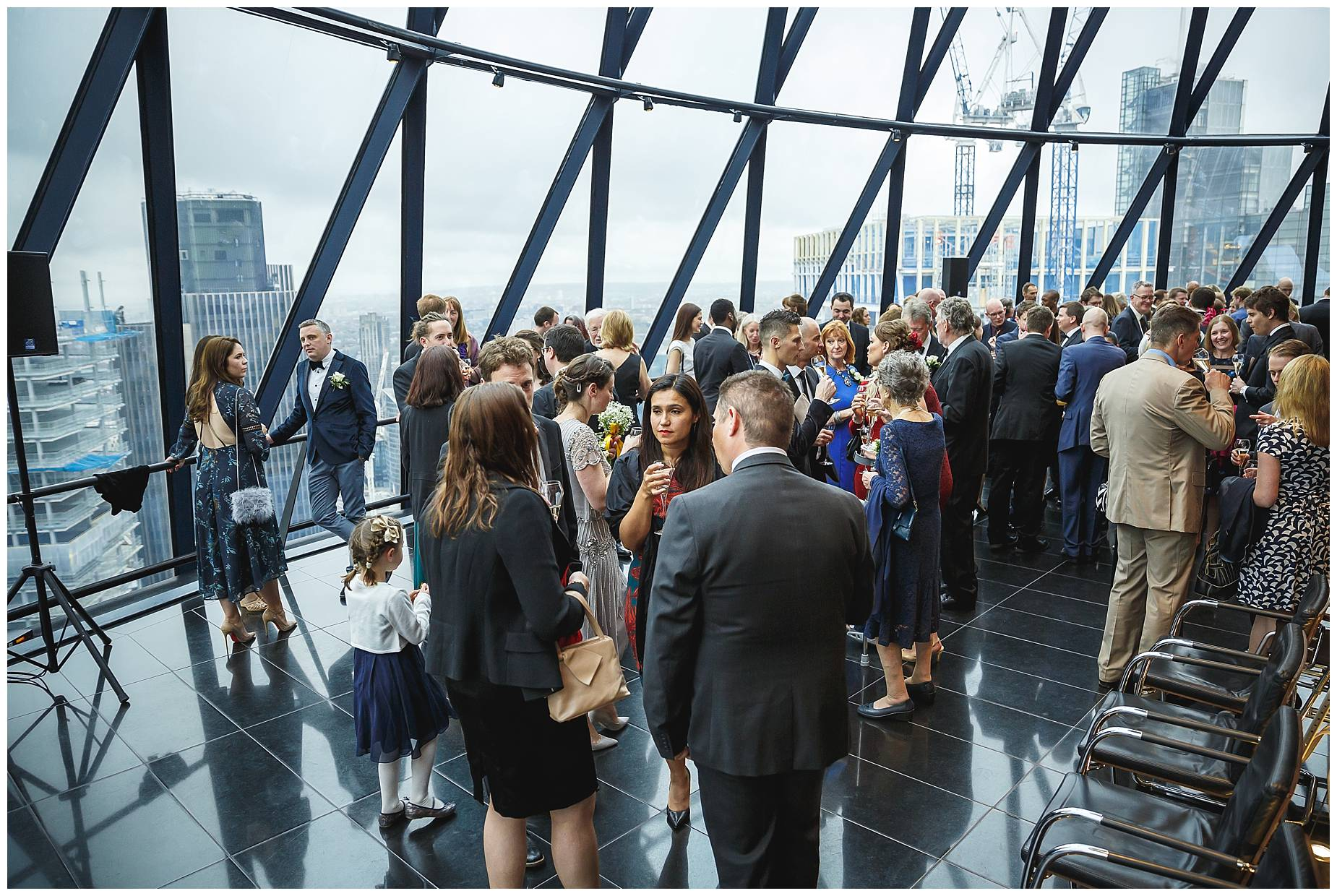 Wedding at the Gherkin during the drinks reception