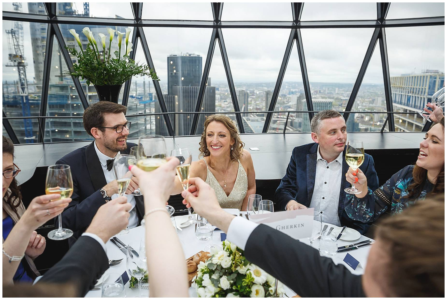 meal at the gherkin