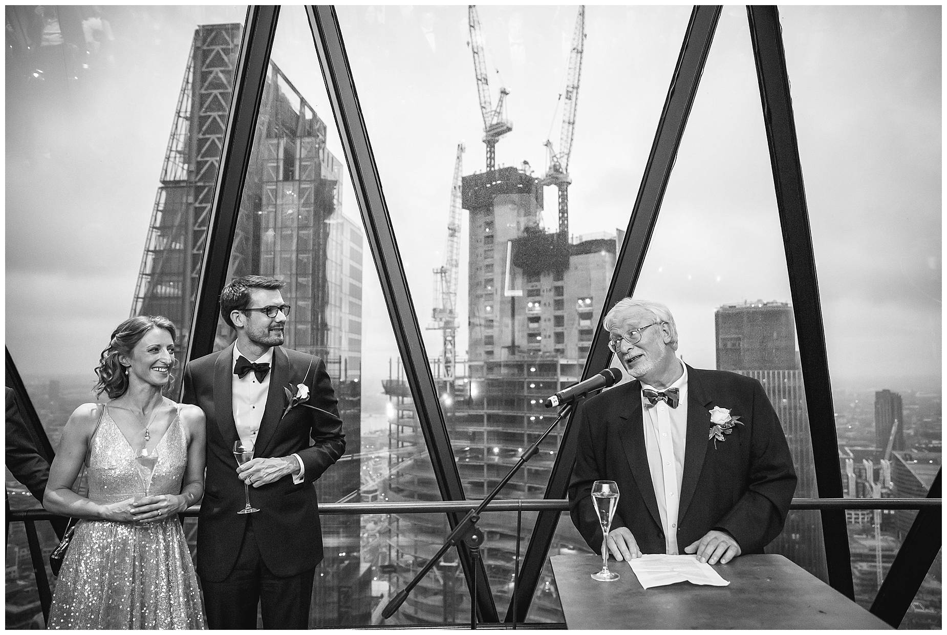 Father of the bride speech at the gherkin