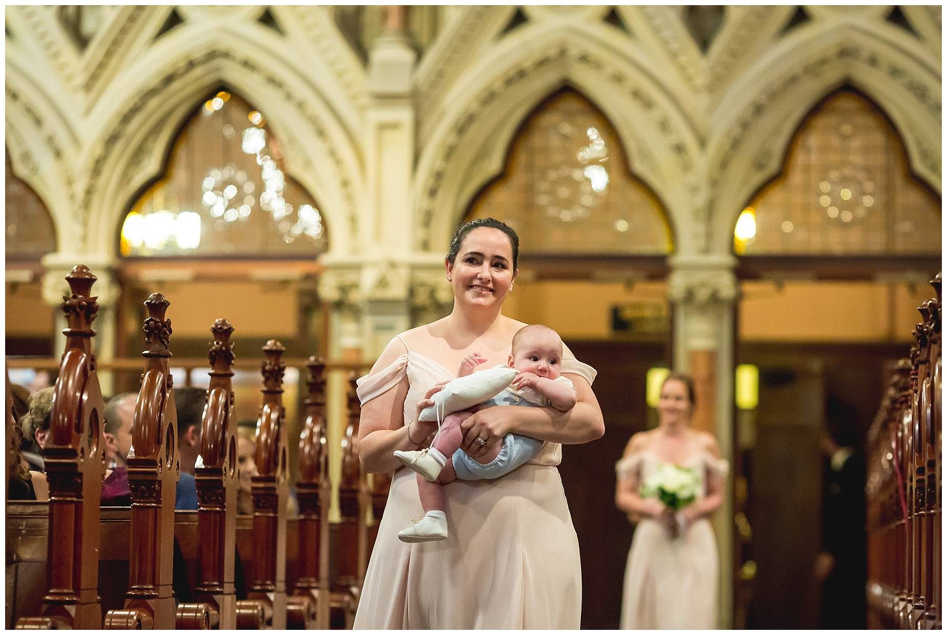 walking down the aisle at Old South Street Church