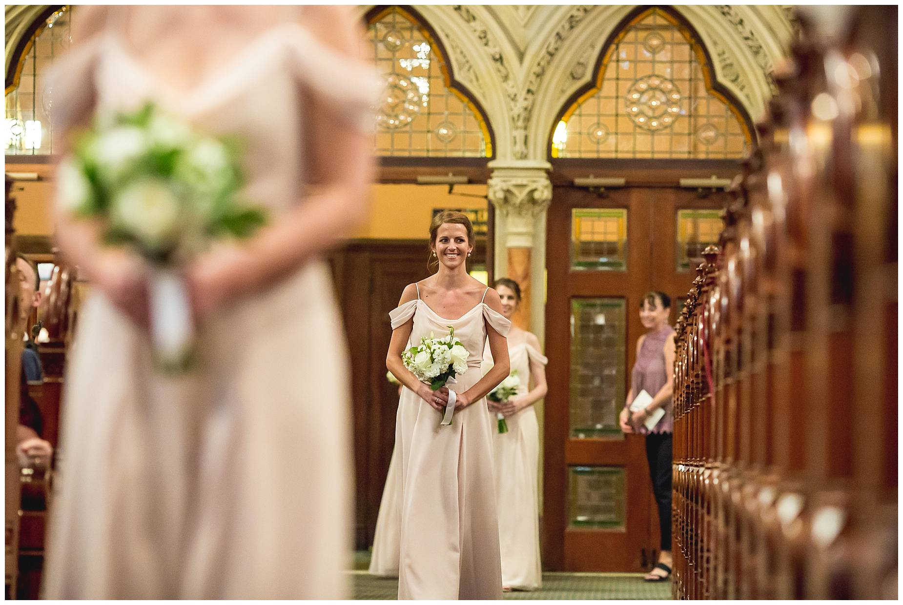 bridesmaids at Old South Street Church
