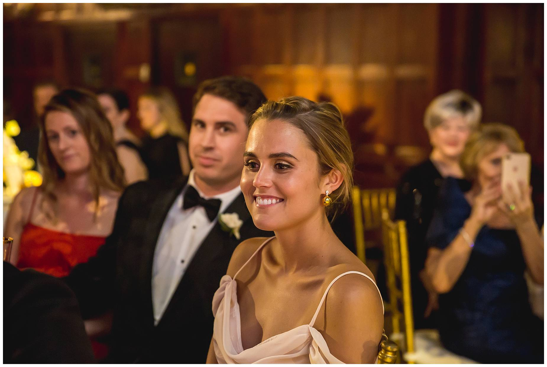 Harvard Club Wedding guests smiling