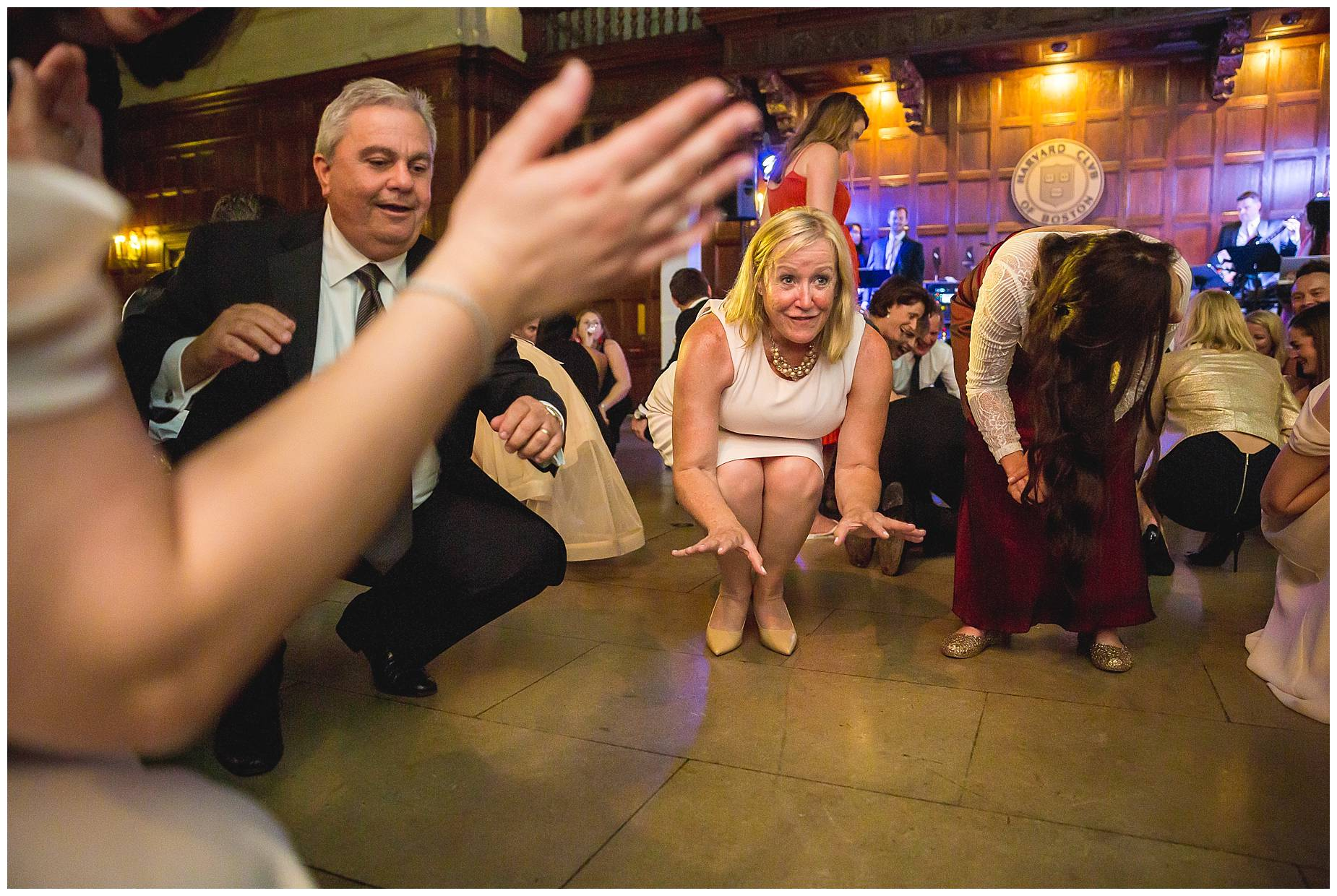 dance at Harvard Club Wedding