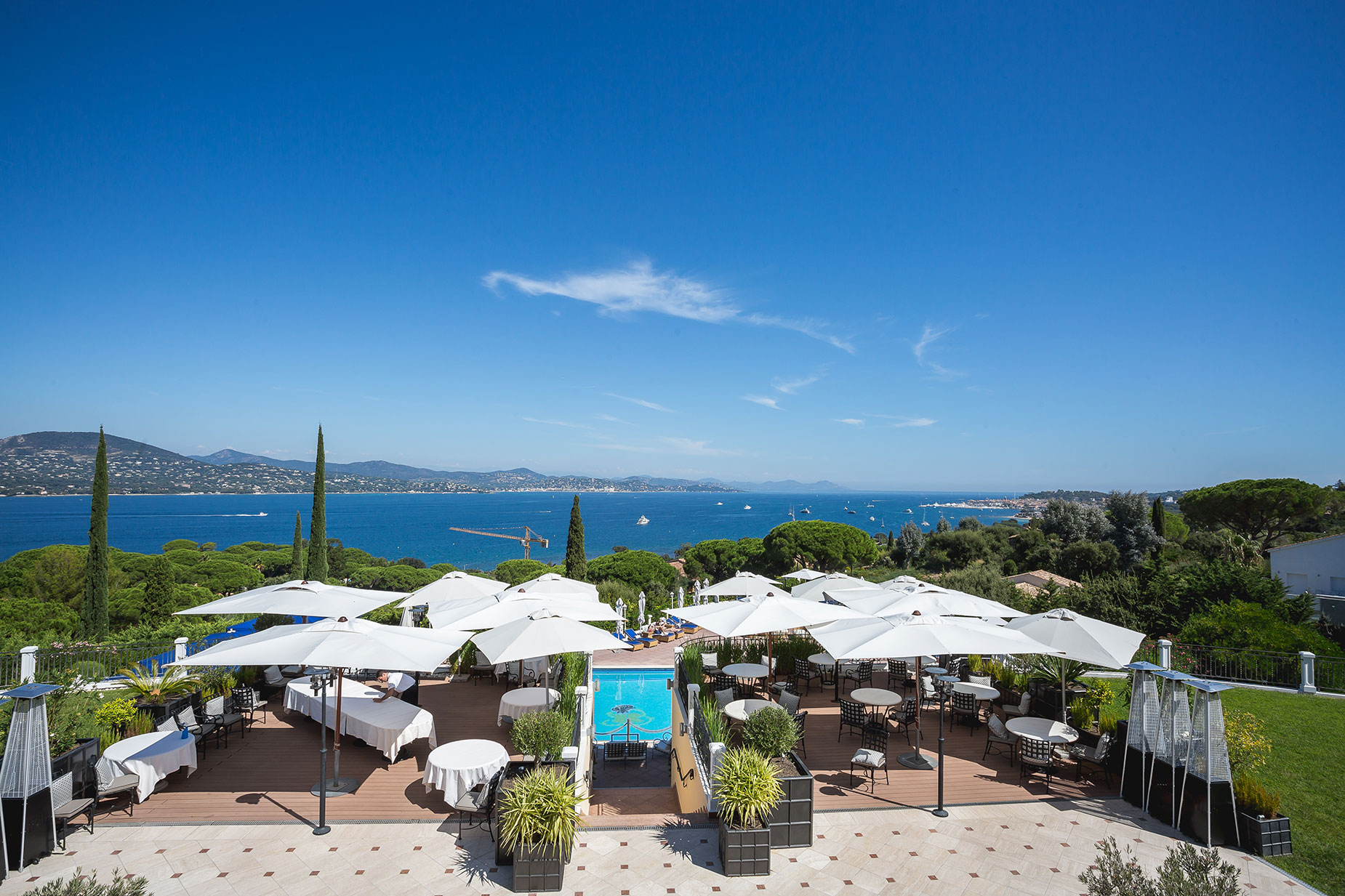 view from Althoff Hotel Villa Belrose