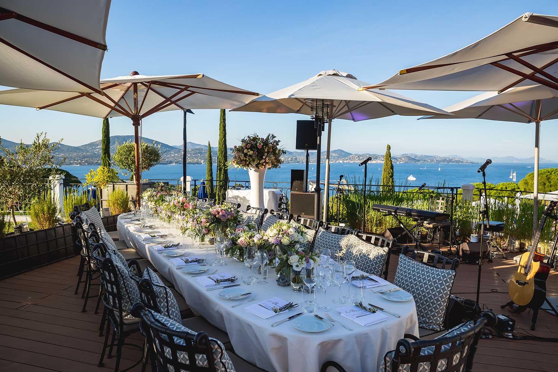 Althoff Hotel Villa Belrose wedding tables