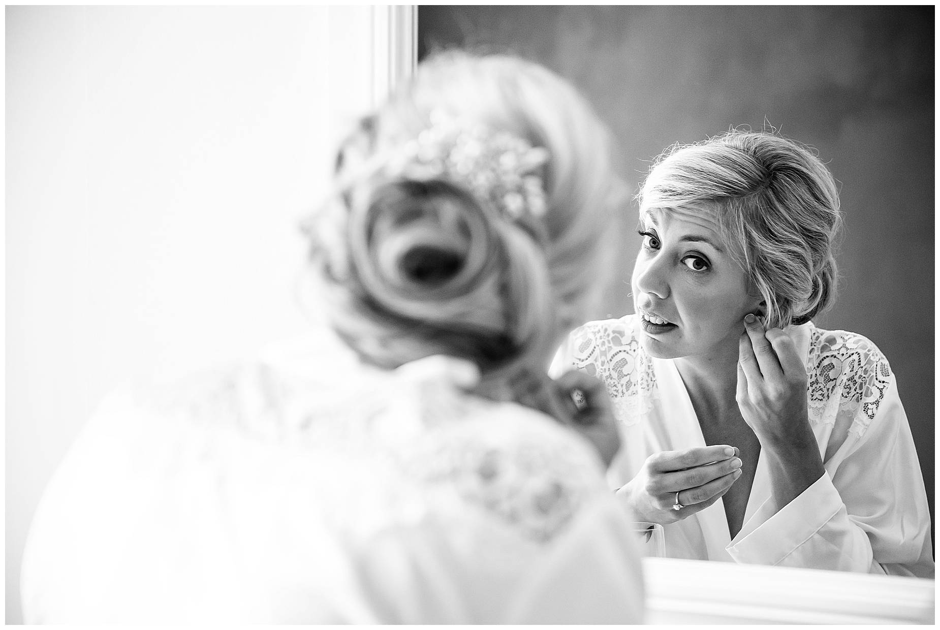 Chateau Blomac Wedding bride in mirror