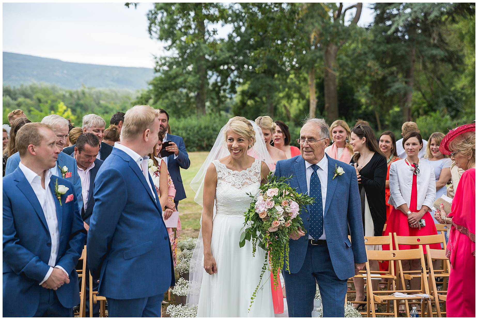 Chateau Blomac Wedding ceremony