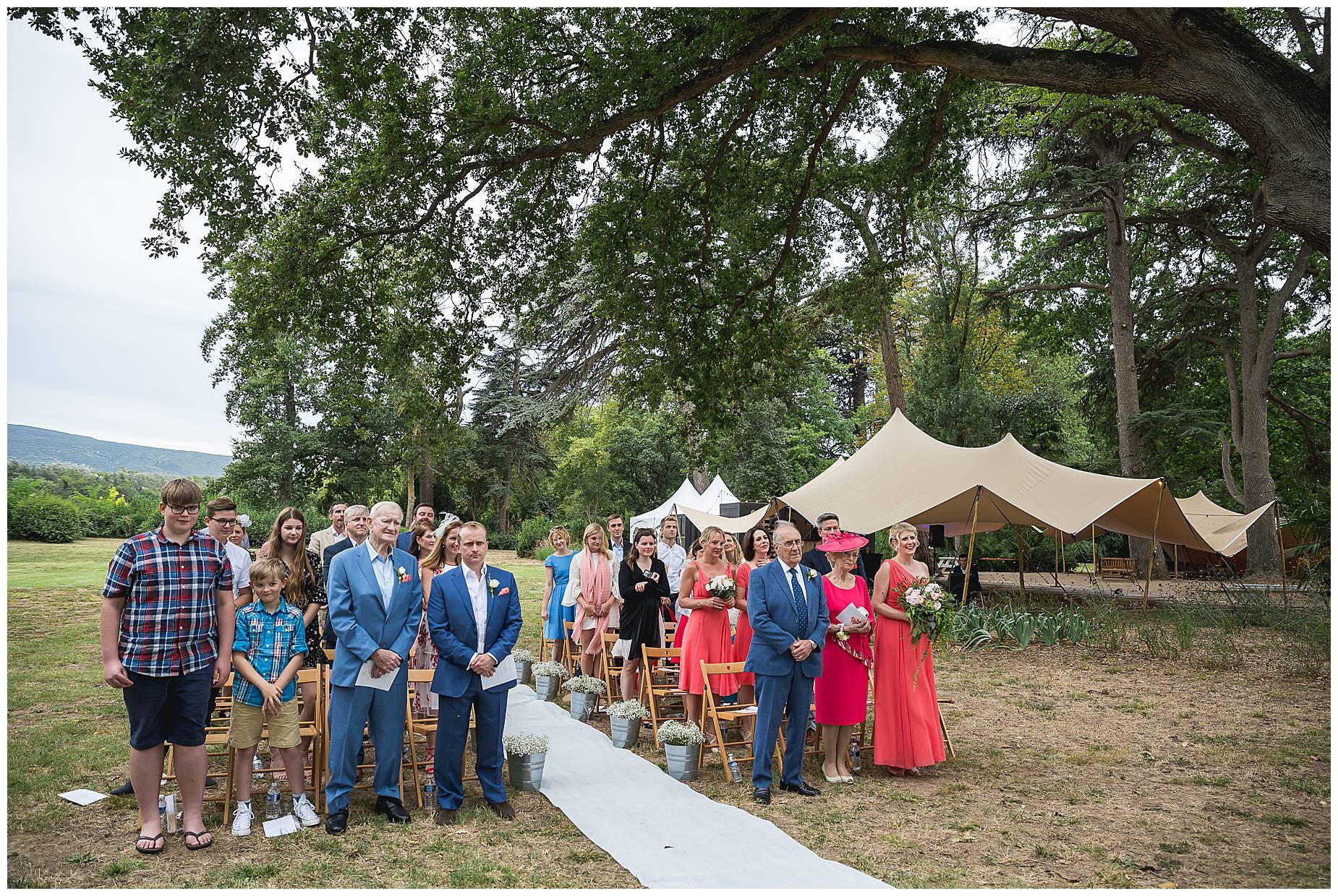 Chateau Blomac Wedding guests lok on