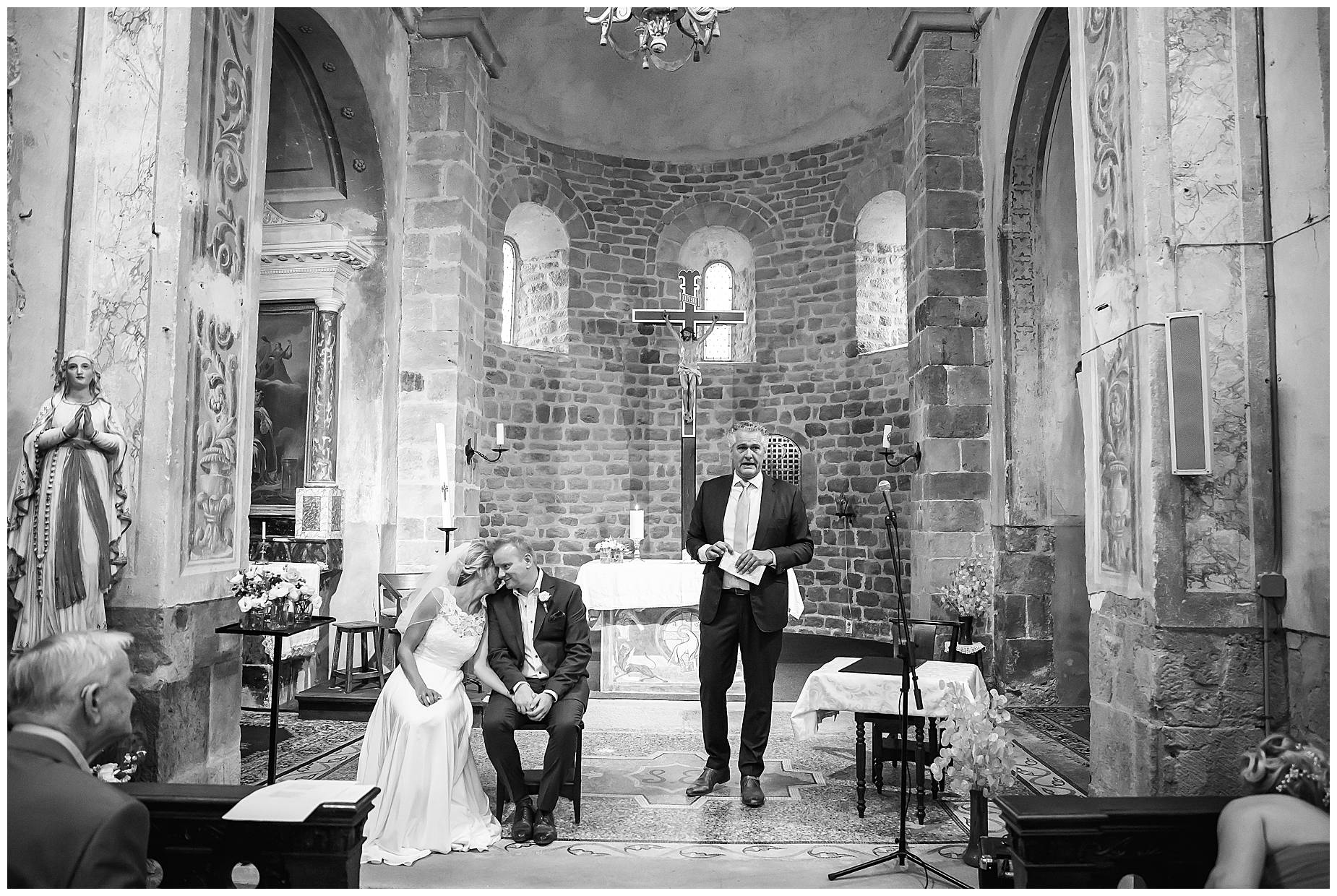 Chateau Blomac Wedding in church
