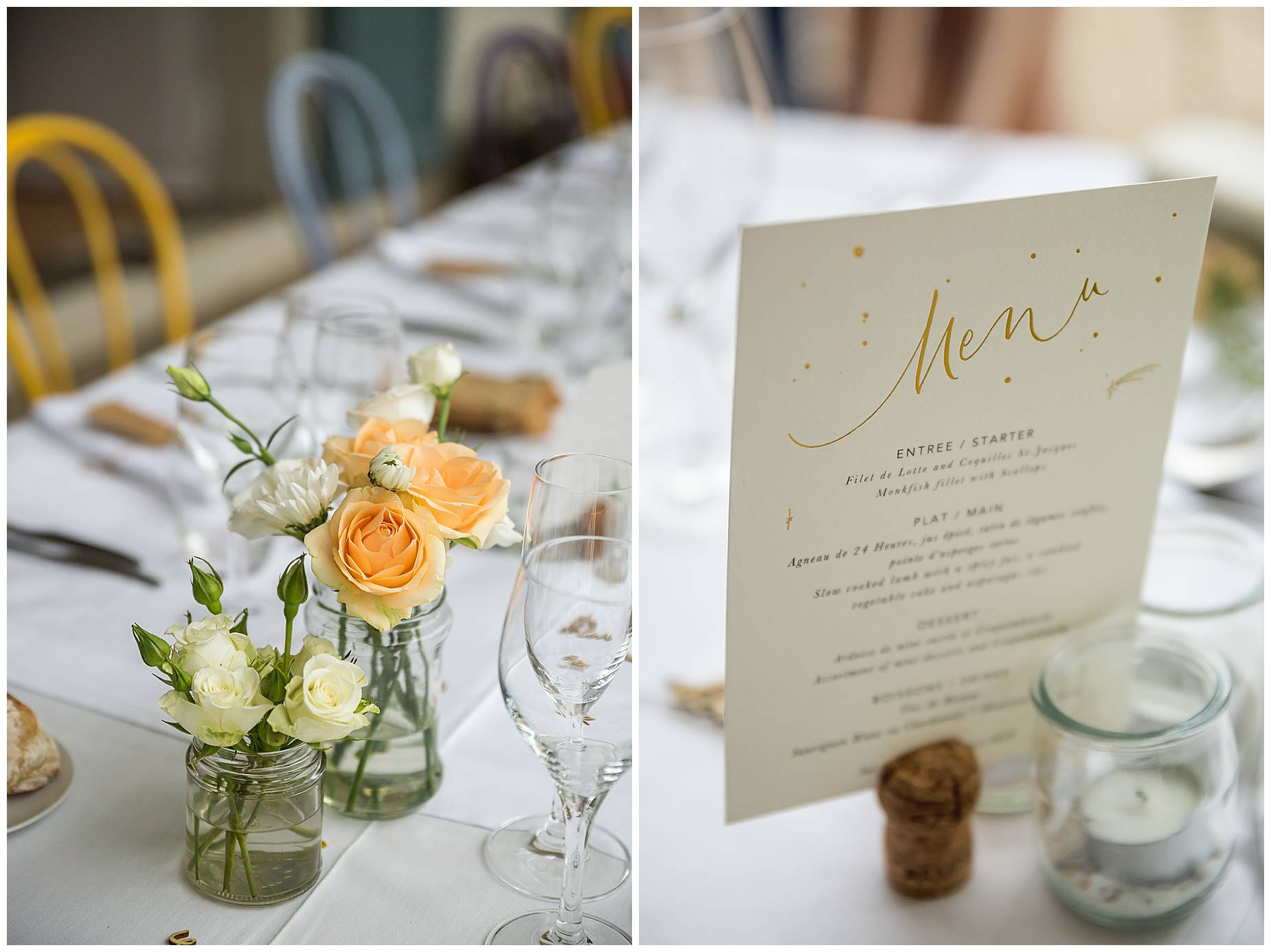 Chateau Blomac Wedding tables