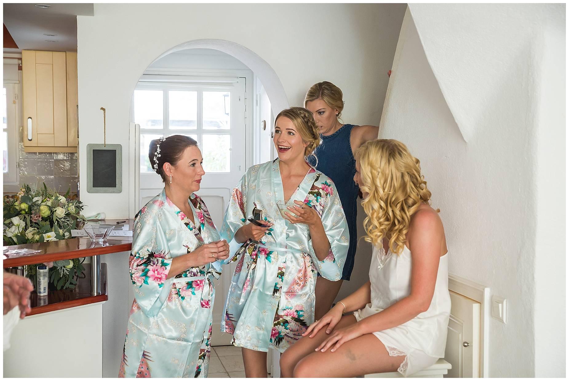 Bridesmaid laughing at Port Grimaud Wedding