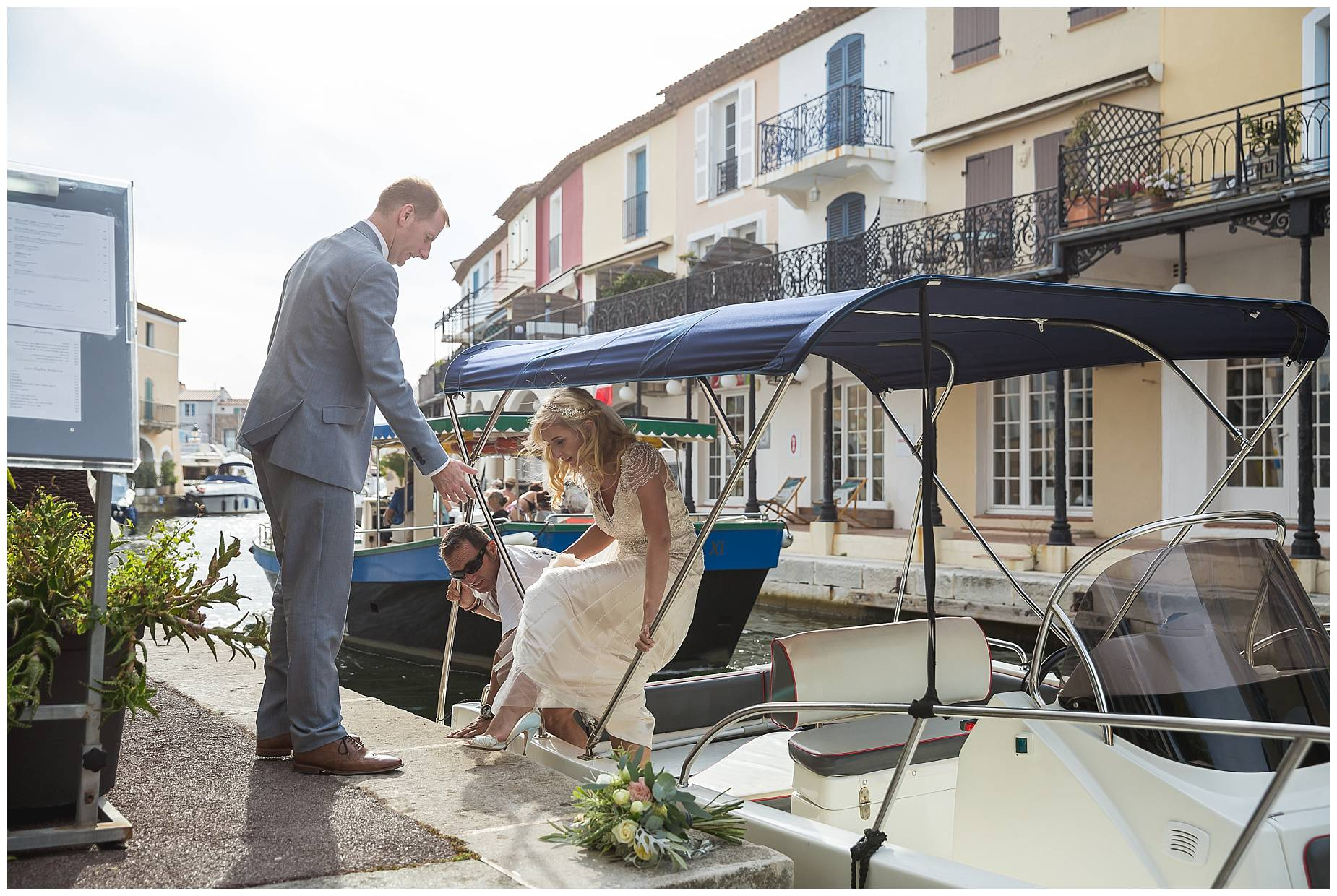 Port Grimaud Wedding boat