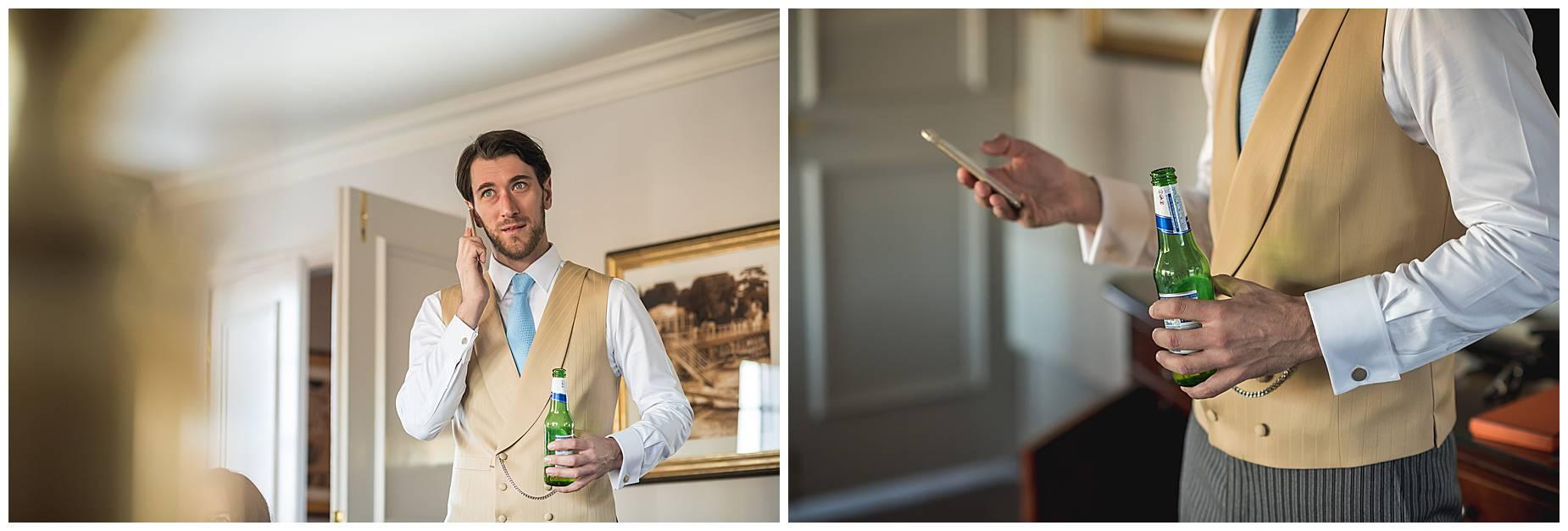 groom on the phone