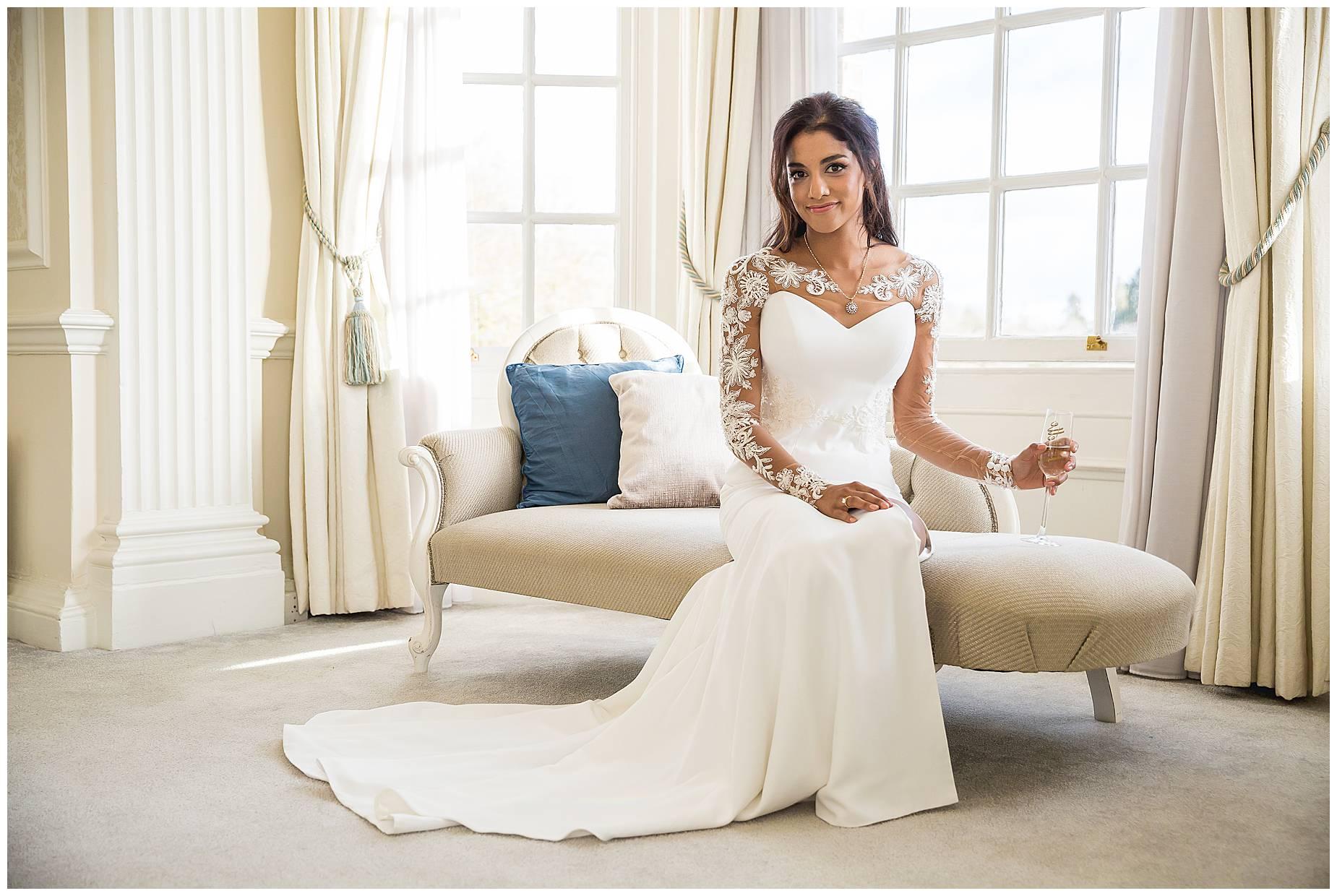 portrait of bride at Hedsor House Winter Wedding