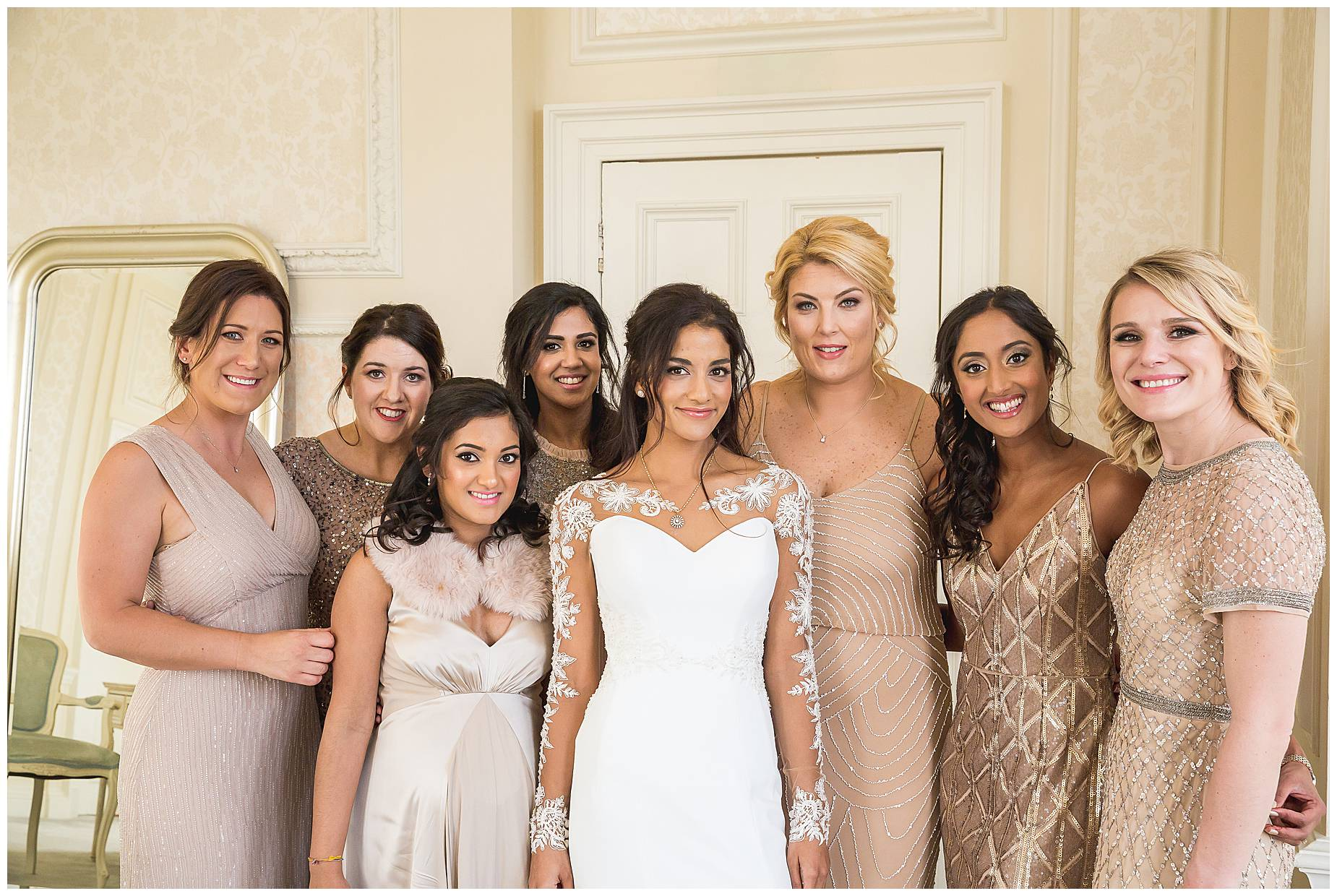 bridesmaids ready for Hedsor House Winter Wedding