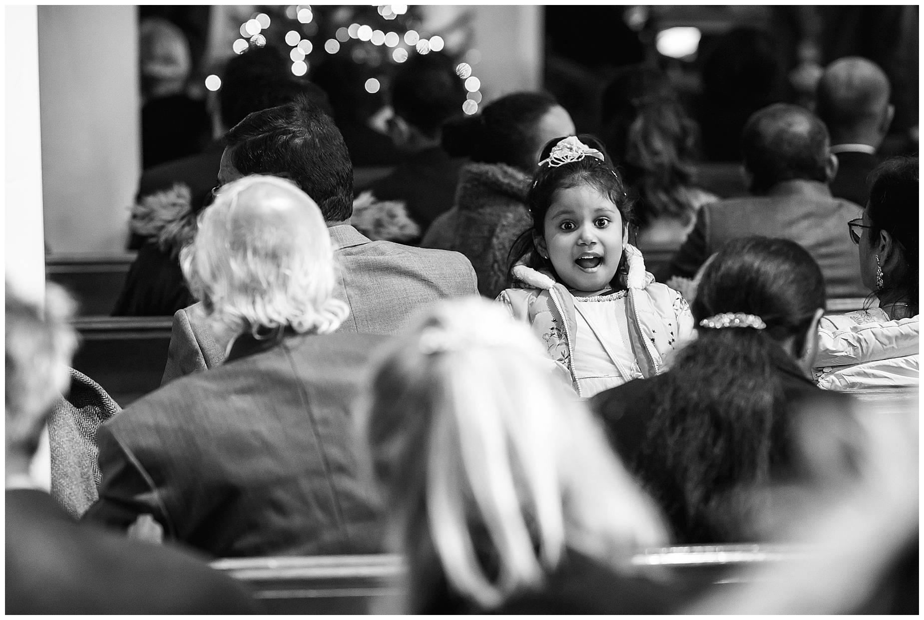 little girl in church
