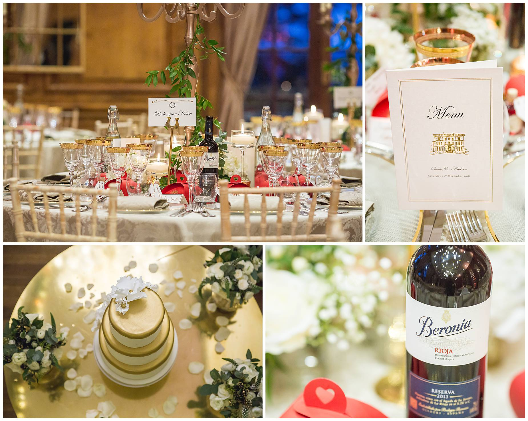 Christmas wedding hedsor house