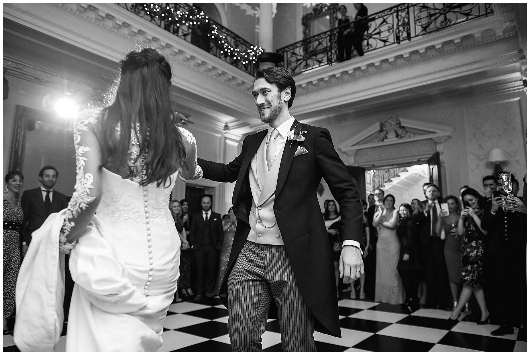 dancing at Hedsor House Winter Wedding